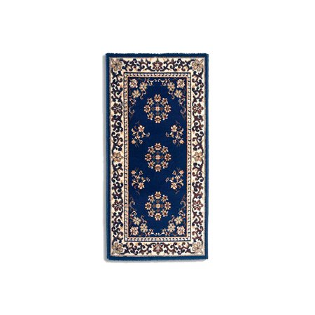Large Fireplace Rug W Blue Amp Beige Oriental Pattern