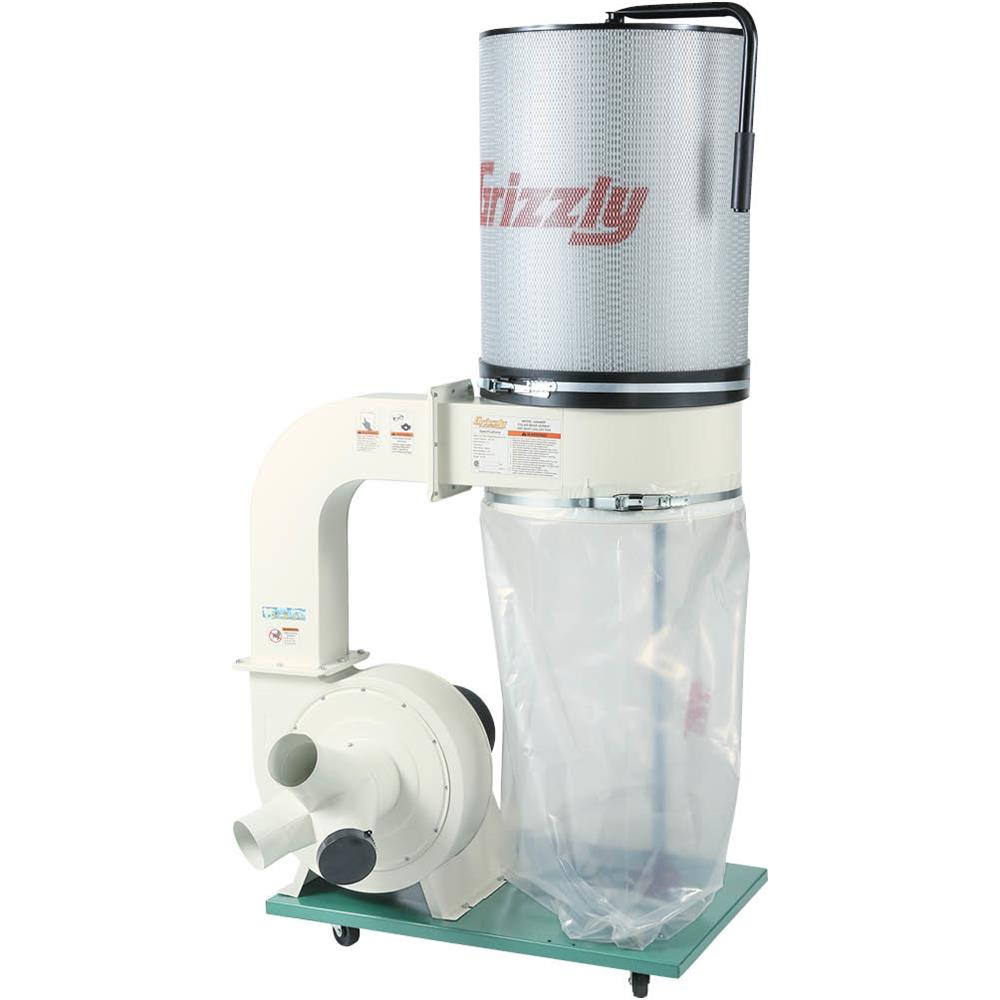 Grizzly G0548ZP 2HP Canister Dust Collector with Aluminum Impeller Polar Bear Series by
