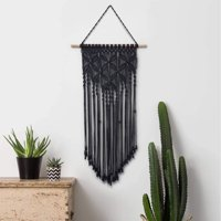 Macrame Wall Hanging Tapestry Art Geometric Bohemian Tapestry for House, Apartment,Dorm Room Decoration, Bedroom, Nursery, Wall Ornament,Wedding