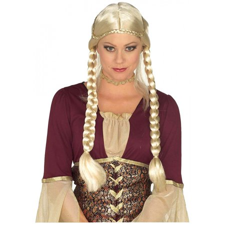 Renaissance Braided Wig Adult Costume Accessory Blonde