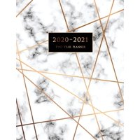 2020-2021 Two Year Planner: Large Monthly Planner with Inspirational Quotes and Marble Cover (Volume 5) (Paperback)