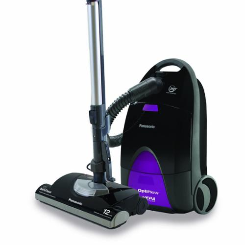 "Panasonic Optiflow Purple Canister Vacuum Mc-cg937 - Bagged - Hose, Filter, Brush, Telescopic Wand, Combo Brush - 14"" Cleaning Width - Bare Floor, Carpet - 24 Ft Cable Length - 72"" Hose (mc-cg937)"
