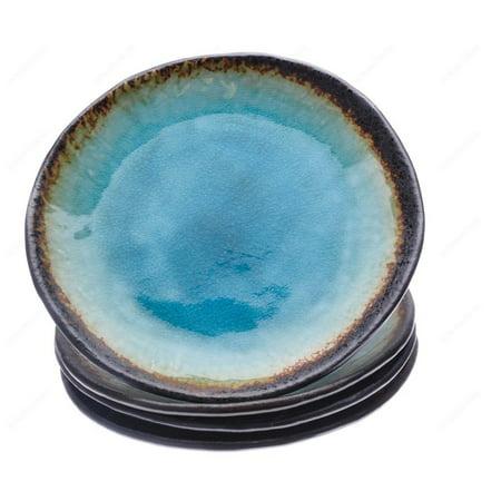 Large Dinner Plates (Kotobuki 161-746 Turquoise Sky Glazed Large Dinner Plate, 9½-Inch, Set of)