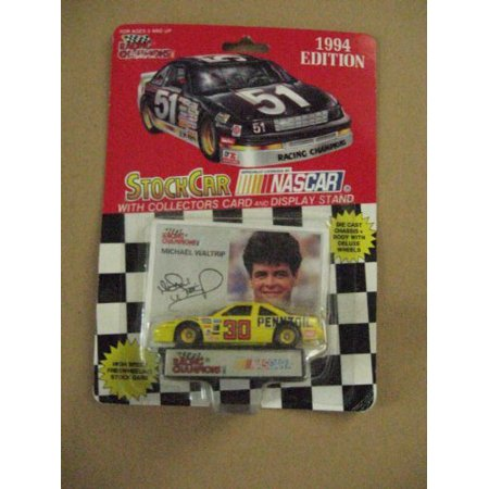 #30 Michael Waltrip 1/64 scale diecast replica stock car with collectible card 1994 Edition, Racing Champions #30 Michael Waltrip 1/64 scale.., By Racing