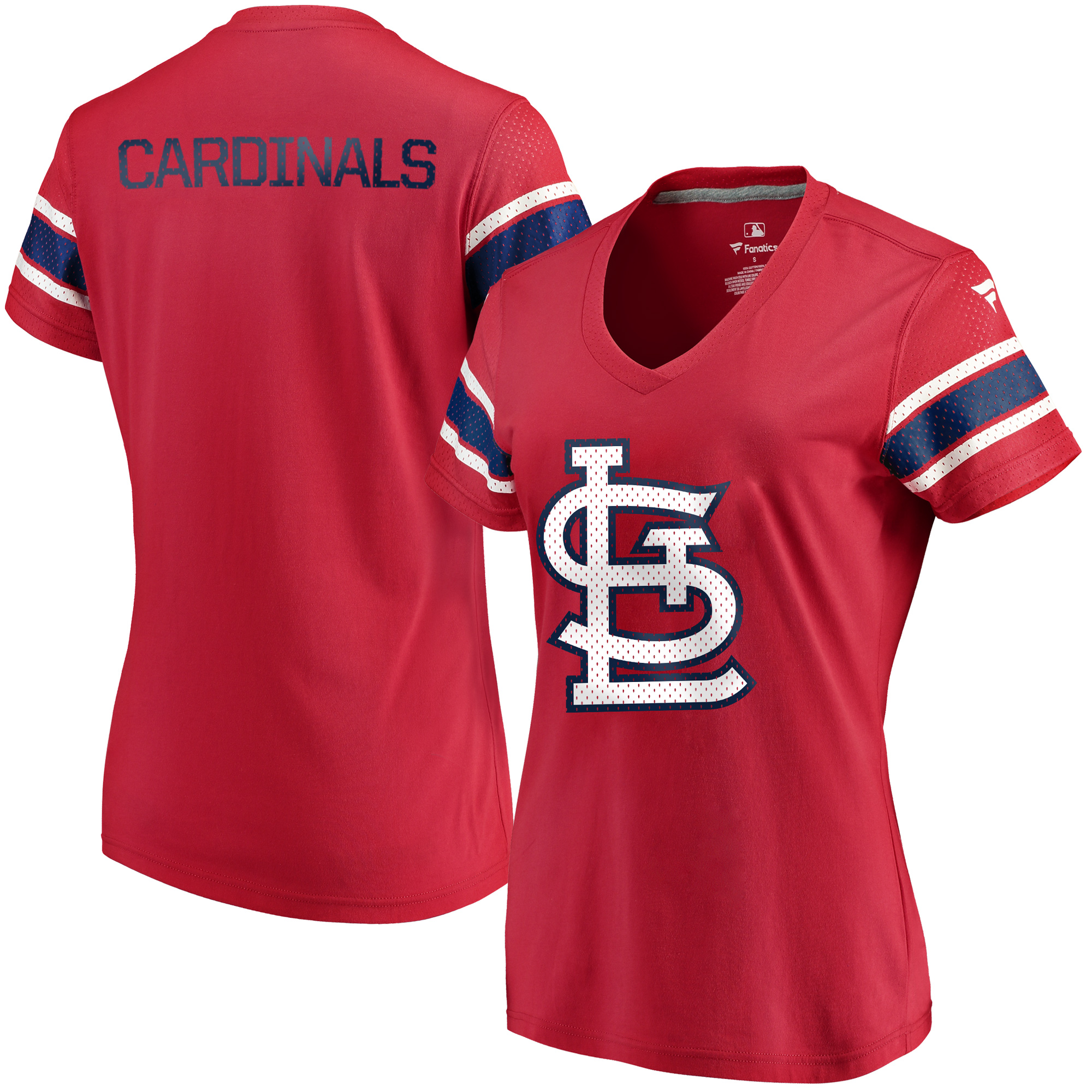 St. Louis Cardinals Fanatics Branded Women's Iconic V-Neck T-Shirt - Red