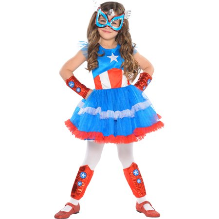 American Dream Tutu Dress for Children, One Size up to Girl's Size 4 to 6](Captain America Stealth Suit)
