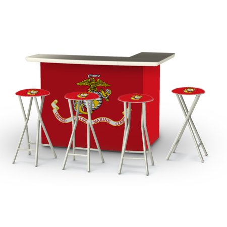 Fabulous Best Of Times Deluxe U S Package Patio Bar And Tailgating Center With 4 Bar Stools Alphanode Cool Chair Designs And Ideas Alphanodeonline