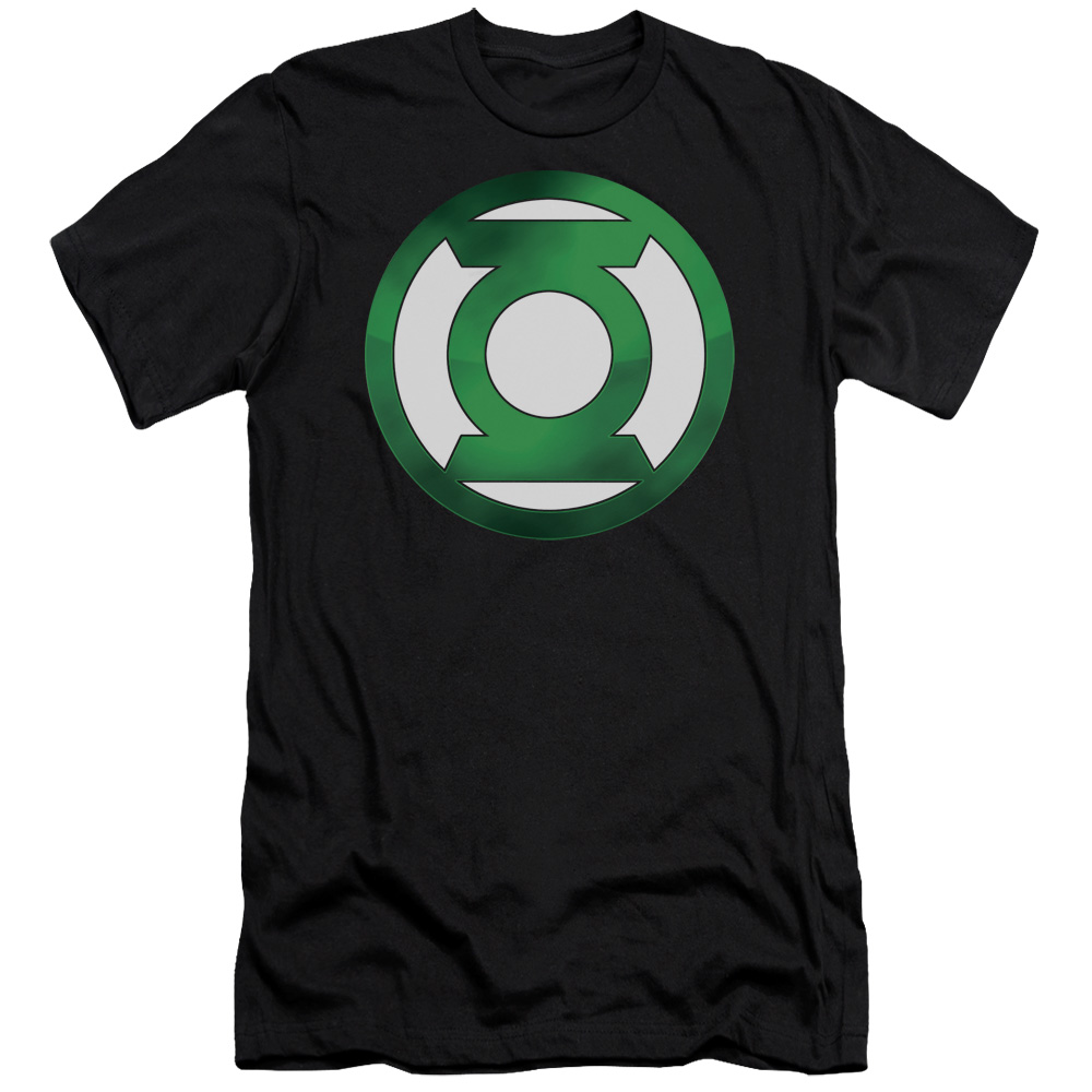 Green Lantern Green Chrome Logo Mens Slim Fit Shirt