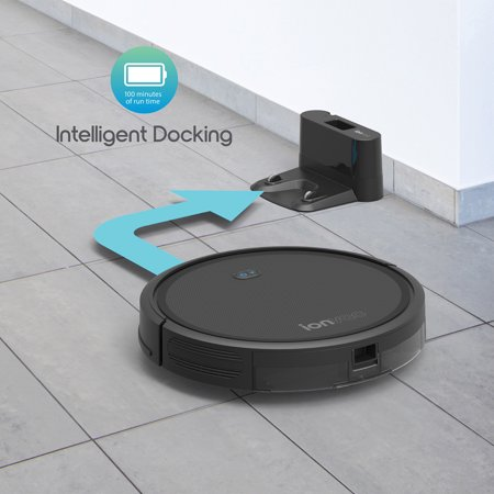 "ionvac SmartClean 2000 Robovac - Hardwood & Carpeted Robot Vacuum Cleaner, Self-Charging ""Smart"" Robotic Vacuum, WiFi Connected Controlled Via Mobile App or Voice Activated Commands"