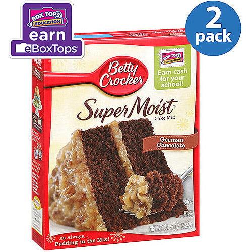 Betty Crocker Super Moist German Chocolate Cake Mix 15 25 Oz Pack
