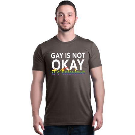Shop4Ever Men's Gay is Not Okay It's Fabulous LGBTQ Pride Graphic - Orange You Glad It's Halloween Amber Brown
