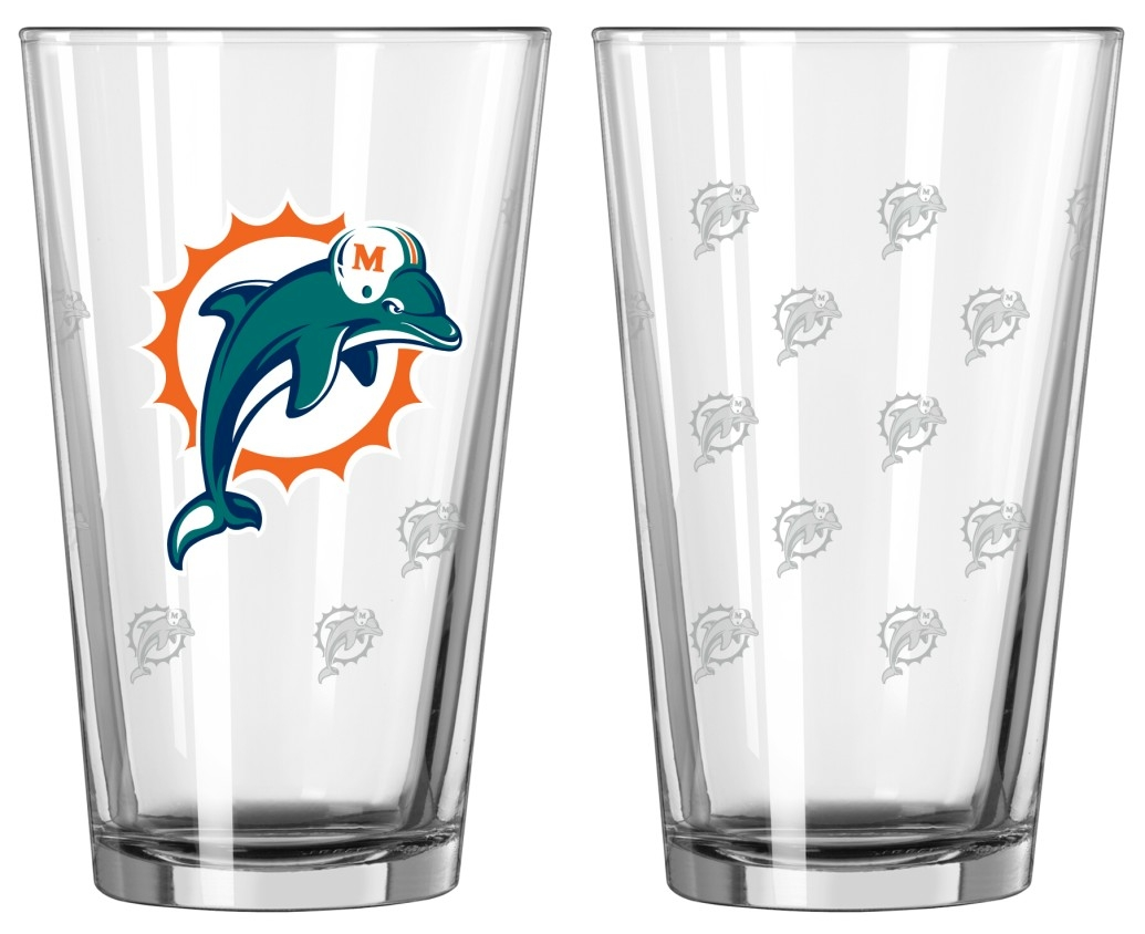 Boelter Pint Glass 2-Pack Miami Dolphins by Boelter Brands
