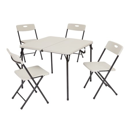 Terrific Mainstays 5 Piece Card Table And Four Chairs Set Multiple Colors Lamtechconsult Wood Chair Design Ideas Lamtechconsultcom