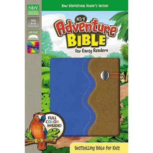 NIrV Adventure Bible for Early Readers: New International Reader's Version, Blue/Tan, Italian Duo-Tone