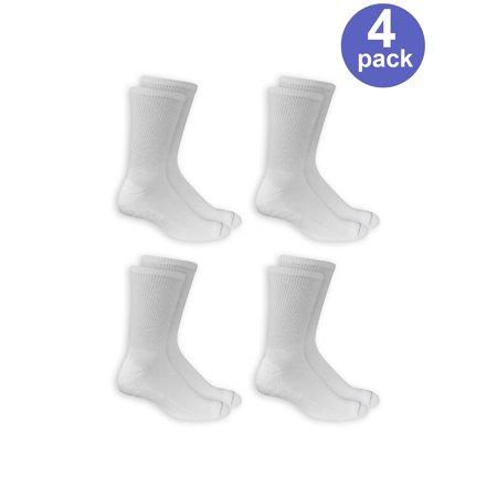 ecef49fa6 Men s Diabetic and Circulatory Crew Socks 4-Pack - Walmart.com
