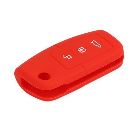 Red 3 Button Car Remote Key Case Holder Shell Cover for Carnival - image 1 of 3