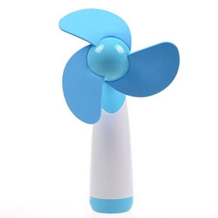 kloud city blue personal hand-held/portIle battery operated mini air fan for home and - Hand Held Fan Battery Operated