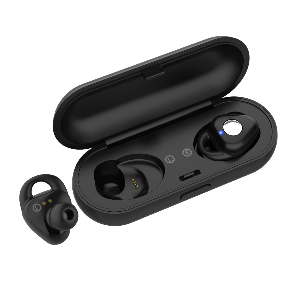 Bluetooth Wireless Earbud Earphone Earpiece,True Mini In Ear Invisible Headset HD Sound Sweatproof Headphone with Mic and Charging Case for iPhone Samsung Smart Phones and other Bluetooth Device