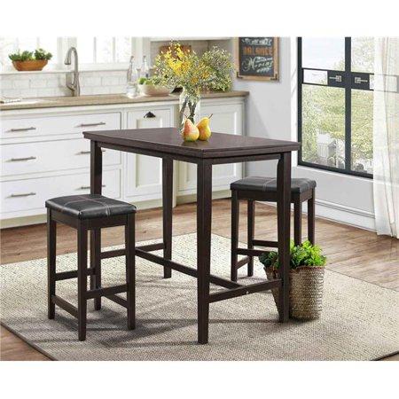 Home Elegance 5550-32 3 Piece Tirel Counter Height Set - Dark