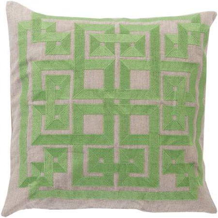 Surya Surya Pillows Area Rugs - LD006 Contemporary Peridot/Oatmeal Lattice Knot Trellis Squares Rug
