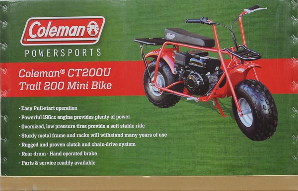 Coleman CT200U Trail200 Gas Powered Mini Bike   Walmart.com
