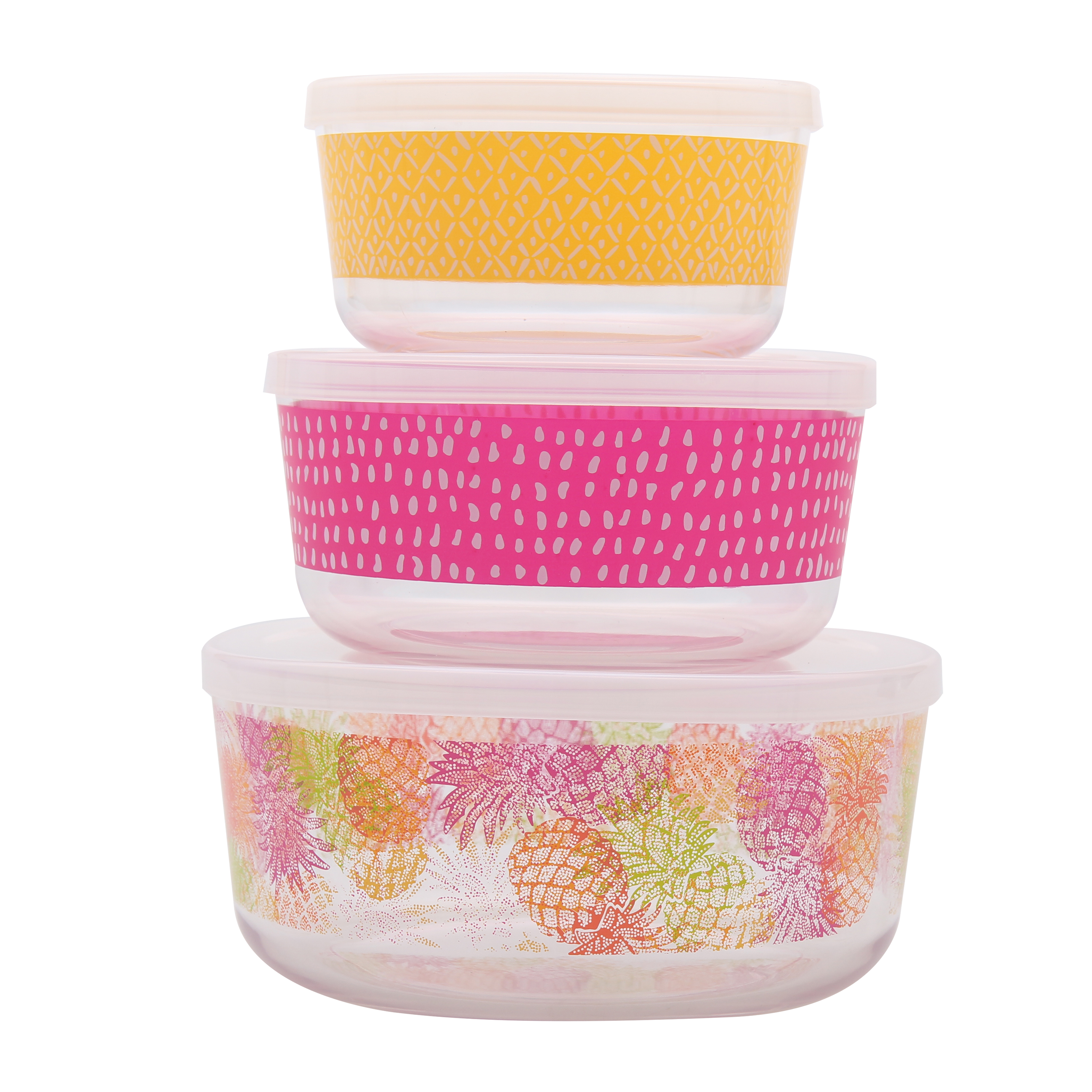 Mainstays Pineapple 3 Piece Bowl Set