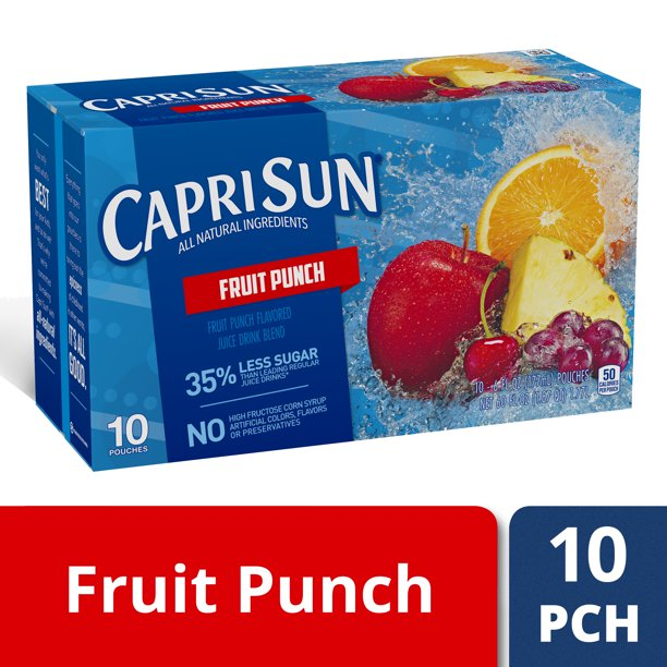 Capri Sun Fruit Punch Flavored Juice Drink Blend, 10 ct - Pouches, 60.0 fl oz Box