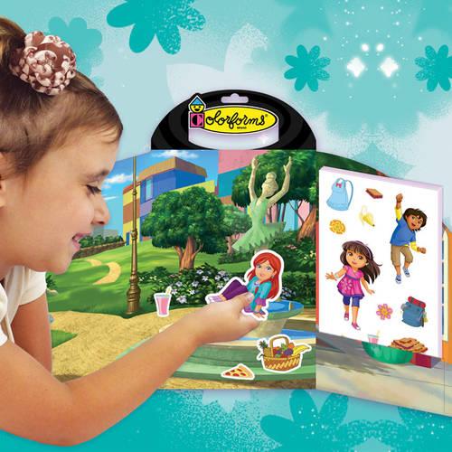 Colorforms Take Along Re-Stickable Sticker Set, Dora by Colorforms