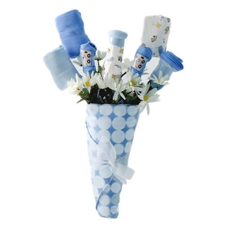 new baby bouquet gift blue boy