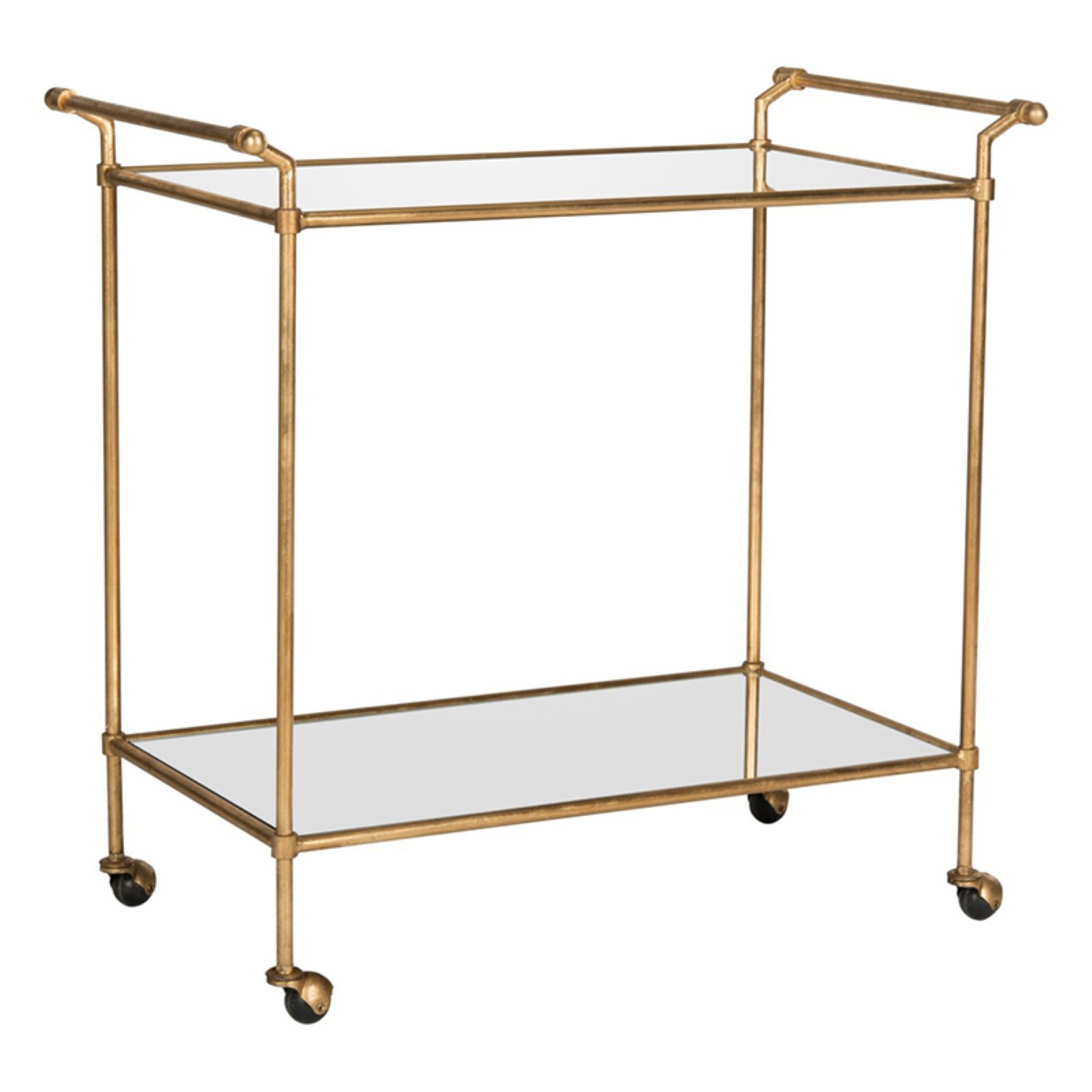 Safavieh Felicity Bar Cart, Gold/Mirror Top