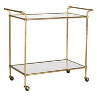 Safavieh Felicity Bar Cart, Gold/Mirror Top