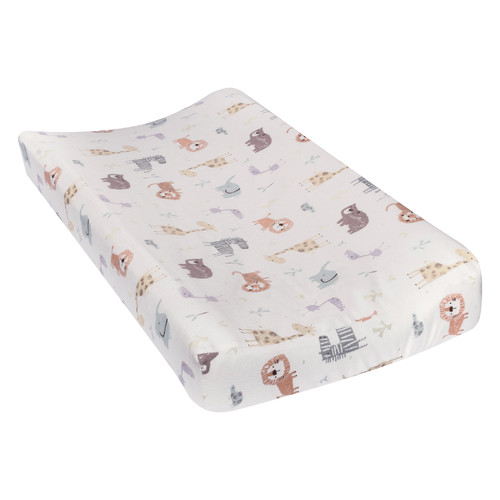 Harriet Bee Vidrine Crayon Jungle Deluxe Flannel Changing Pad Cover