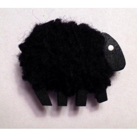 Camus Handmade Black Sheep Needle Minder for Cross Stitch and Needlepoint ()