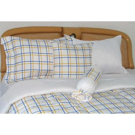 faship bed in a bag bedding set comforter 8 pcs plaid print twin size. Black Bedroom Furniture Sets. Home Design Ideas