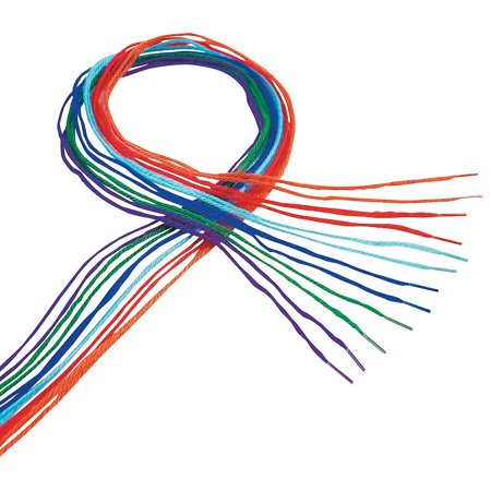 Fun Express - Totally Terrific Tipped Yarn Laces 72 pc - Craft Supplies - Kids Beading - Beading Supplies - 72 Pieces