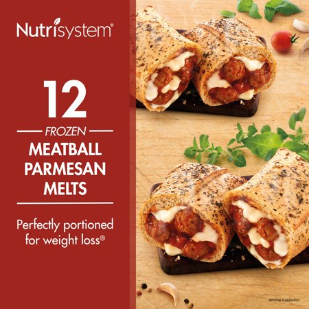 Nutrisystem Frozen Meatball Parmesan Lunch Melt, 4.0 oz, 12 Ct - Halloween Party Food Meatballs