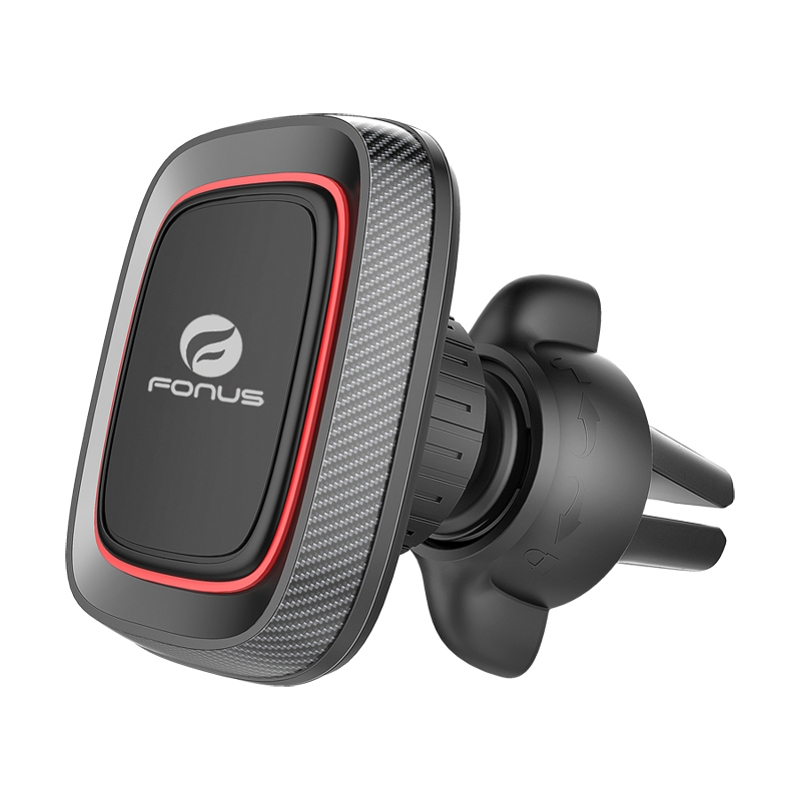 Premium Magnetic Car Mount Air Vent Holder Rotating Dock with Four Strong Magnets [Black] Q3L for ZTE Grand X Max 2 X3 X4, Duo LTE XL, ZMax Pro Z981