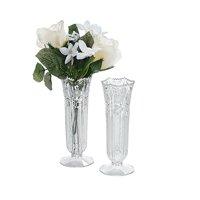 "Fun Express - Plastic Vases 6"" (dz) for Wedding - Home Decor - Decorative Accessories - Vases - Wedding - 12 Pieces"