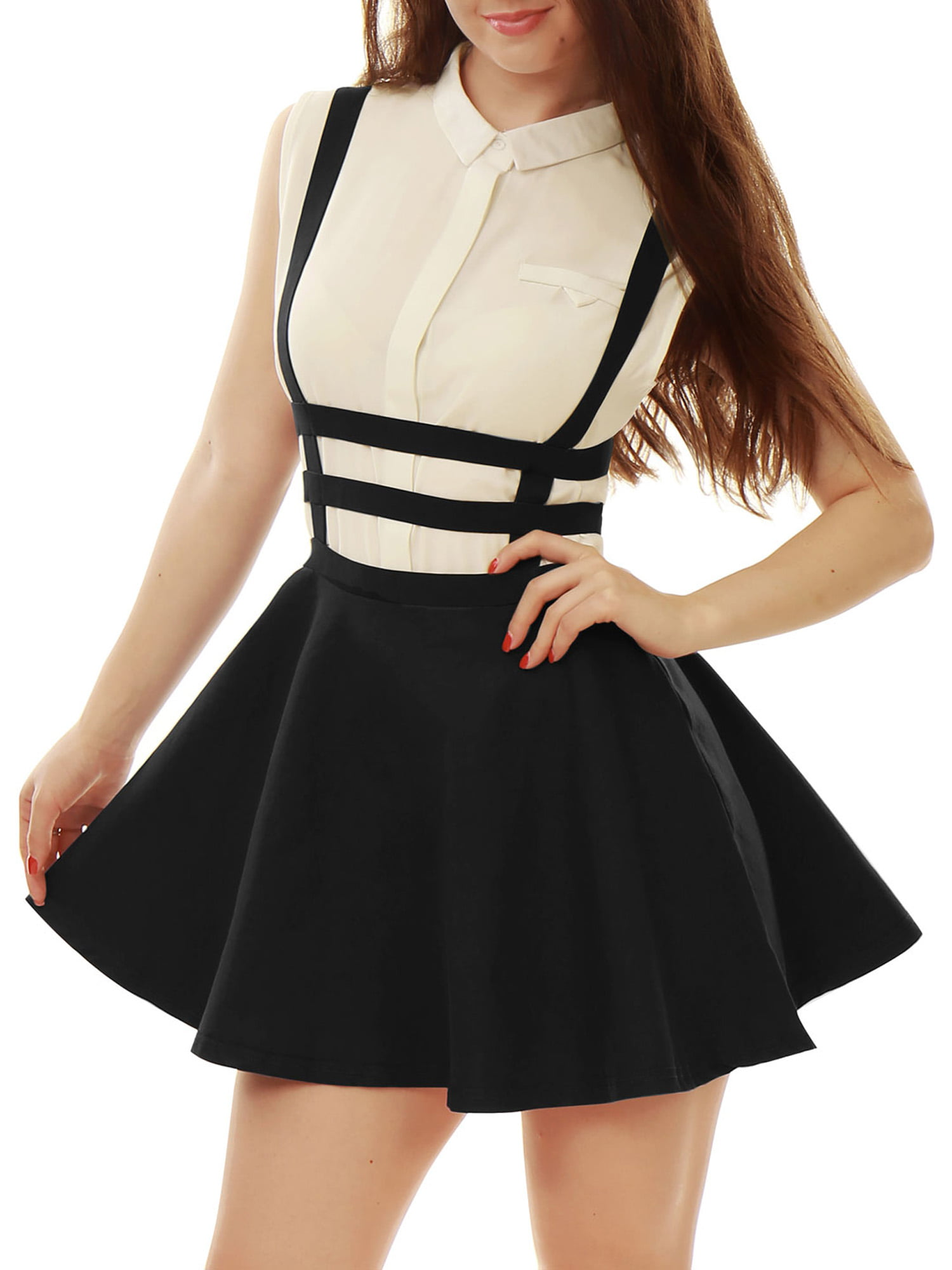 Bubble but mini skirts Allegra K Women S Strappy Short Skirts Black Size L 12 Walmart Com Walmart Com