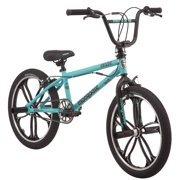 Mongoose Craze Freestyle BMX Bike, 20-inch Mag wheels, 4 Freestyle Pegs, ages 6 and up, Black, Mint, girls, boys