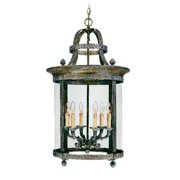 World Imports French Country 6 Light Outdoor Pendant