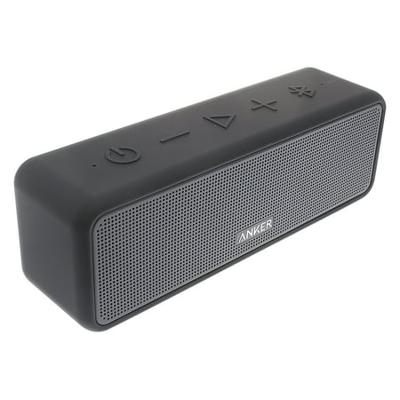 Anker SoundCore Select Portable Bluetooth Speaker Black with Loud Stereo Sound, Rich Bass, 24-Hour Playtime, 66 ft Bluetooth Range, Built-In Mic. Perfect Wireless Speaker for iPhone, Samsung and