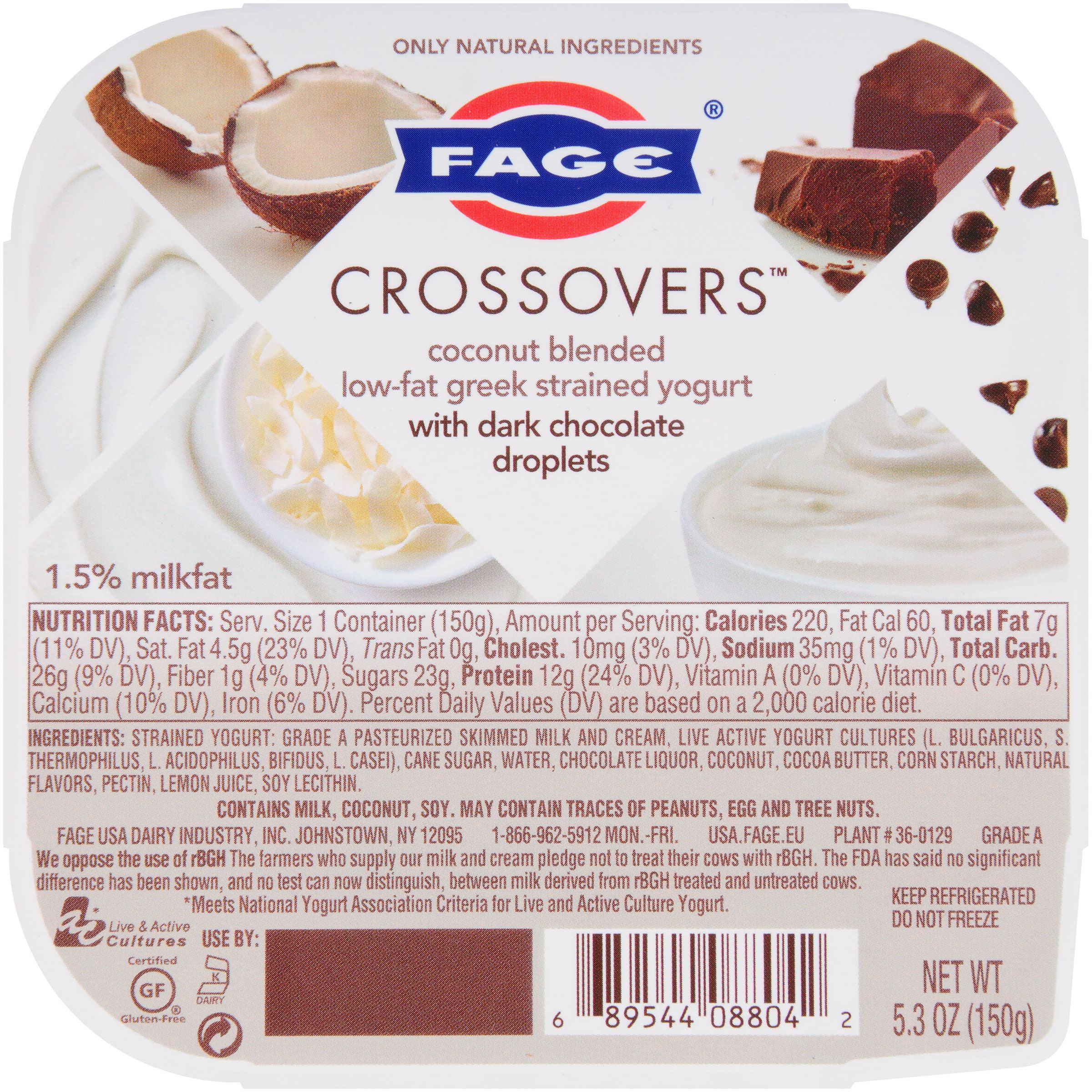 Fage® Crossovers™ Coconut Blended Low-Fat Greek Strained Yogurt ...