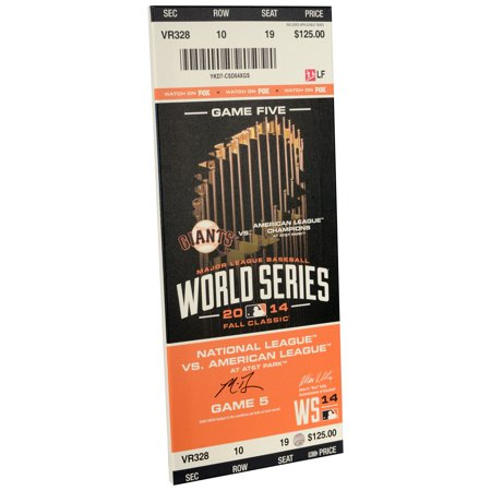 Madison Bumgarner San Francisco Giants Fanatics Authentic Autographed 2014 World Series Game 5 Mega Ticket - No Size