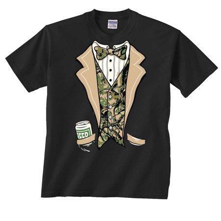 4beb515fa8b6b Fair Game - Camouflage Tuxedo T-Shirt Tux Camo - Walmart.com