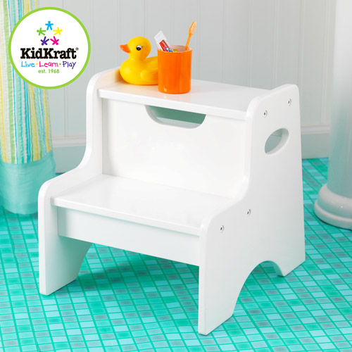 KidKraft Two Step Stool for Kids in White by KidKraft