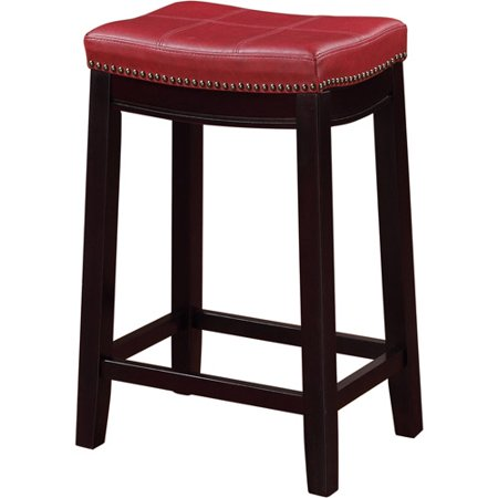 Linon Claridge Backless Counter Stool 24 Inch Seat Height