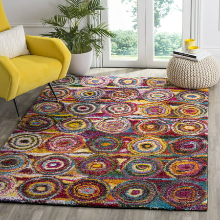 Safavieh Fiesta Zoe Power-Loomed Shag Area Rug or Runner, Multi
