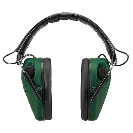 Caldwell E-Max Electronic Hearing Protection Low Profile Ear Muffs, Green - 487557
