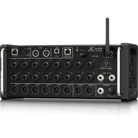 - Behringer XR18 18 Channel, 12 Bus Digital Mixer w/ Preamps, Wi-Fi, USB Audio Interface for iPad/Android Tablets